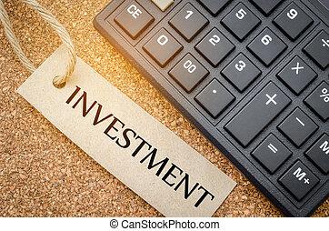 concept., investering, affär