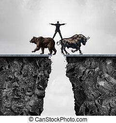 concept, investissement, risque