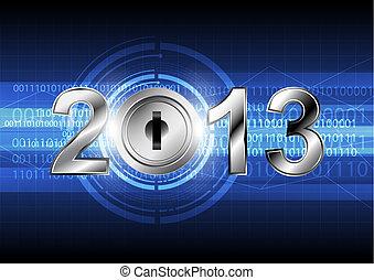concept, jaar, achtergrond, digitale , nieuw, 2013