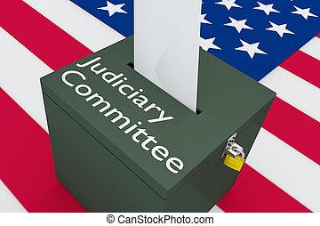 concept, judiciaire, comité