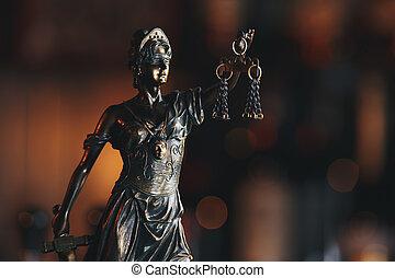 concept, justice, légal, symbole, statue, droit & loi