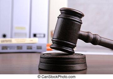 concept, justice., marteau, juge