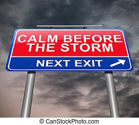 concept., kalm, storm, voor
