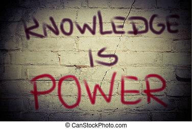 concept, kennis, macht