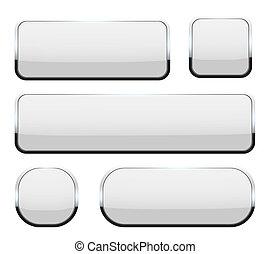 concept, kunst, frame, ovaal, design., web beelden, chroom, vrijstaand, creatief, knopen, achtergrond., witte , abstract, 3d, rechthoek, illustratie, glas, schaduw, het vallen, grafisch, element