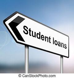 concept., lån, student