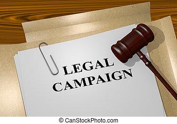 concept, légal, campagne