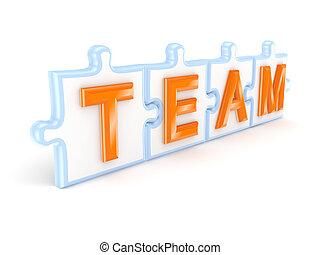 concept., lavoro squadra