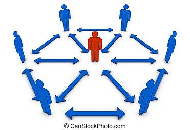 concept, leider, team