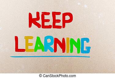 concept, leren, bewaren