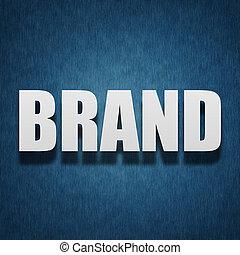 concept, lettres, marque, -, textile, papier