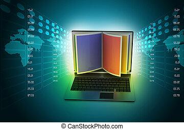 concept, lezende , online