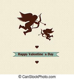 concept, liefde, valentines, ontwerp, retro, dag
