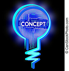 Concept Lightbulb Means Thinking Hy