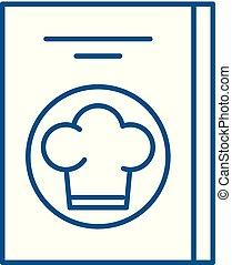 concept., linea, ristorante, conto, vettore, simbolo, appartamento, icona, segno, contorno, illustration.