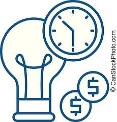 concept., linea, vettore, simbolo, appartamento, icona, segno, contorno, affari, efficienza, illustration.