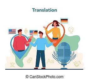 concept., linguist, translator, traduzione, servizio, ...