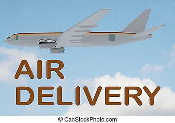 concept, livraison, air