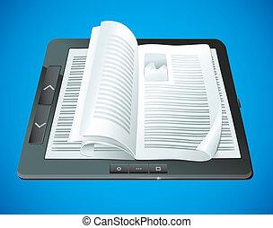 concept, livre électronique