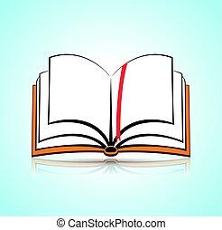 concept, livre ouvert