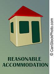 concept, logement, raisonnable