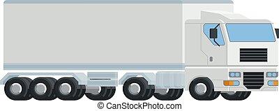 concept, logistique, grand camion, semi installation