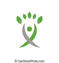 concept, logo, agriculture, vecteur, conception