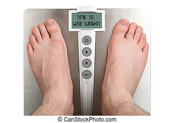 Lose weight - Concept: Lose weight. Isolation on white
