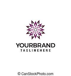 concept, lotus, conception abstraite, gabarit, logo