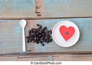 concept love coffee