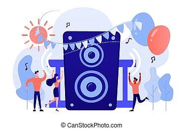 concept, lucht, illustration., feestje, open, vector