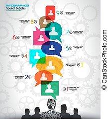 concept, média, infographic, fond, social, nuage
