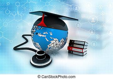 concept médical, education
