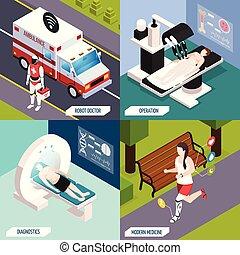 concept médical, technologies, isométrique