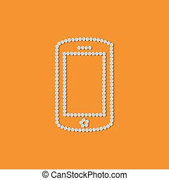 concept:, móvil, smartphone, píldoras, teléfono