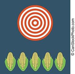 concept., maïs, cible, business, oreilles