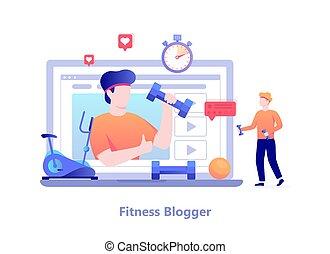 concept., macho, personagem, malhação, blog, condicão física