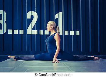 concept:, macht, kracht, gezonde levensstijl, sport.,...