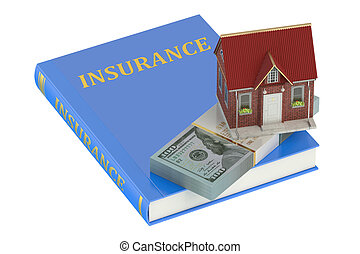 concept, maison, assurance