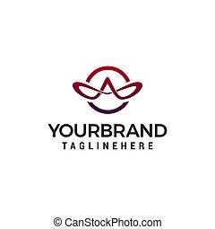 concept, mal, elegant, vector, ontwerp, brief, logo