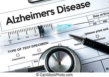 concept, maladies, maladie alzheimers, cerveau, parkinson, dégénératif