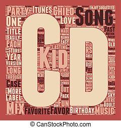 concept, malen, vermalen, tekst, jarig, cd, gunst, wordcloud, geitjes, achtergrond, feestje, uniek