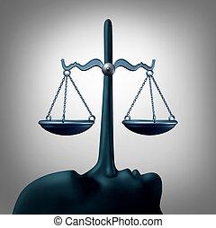 concept, malhonnêteté, légal