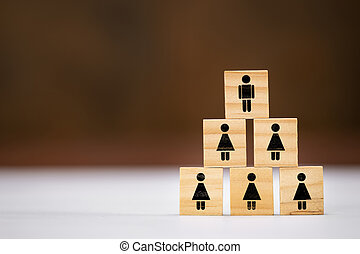 Man is preferred for senior position, women are harder to promote