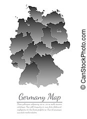 Concept map Of Germany on white background, vector illustration