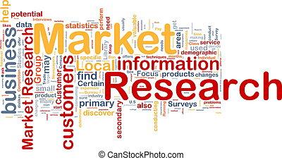 concept, marché, fond, recherche