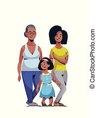 concept, mars, vertical, famille, africain femelle, trois, international, célébrer, longueur, entiers, caractères, 8, américain, heureux, jour, générations, femmes