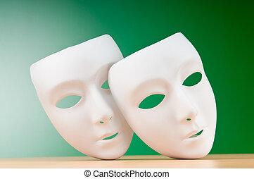 concept, masques, théâtre