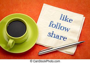 concept, media, zoals, -, volgen, sociaal, aandeel