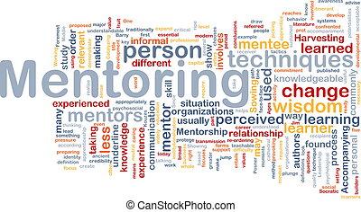 concept, mentoring, achtergrond